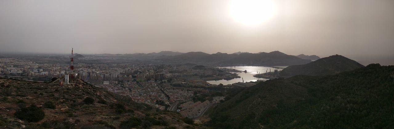 View from the Atalaya fort Nofilter Panorama Cartagena SPAIN