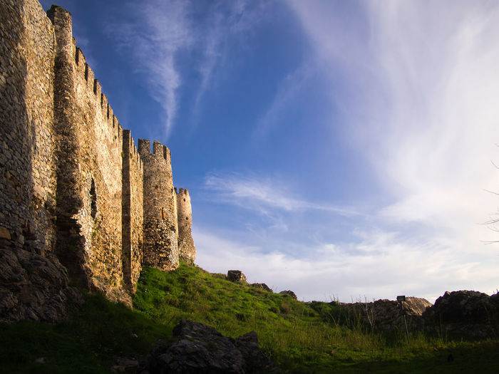 Castle Mamure in Anamur Castle Ancient Ancient Civilization Ancient History Architecture Blue Built Structure Cloud - Sky Day History Land Nature No People Outdoors Ruined Scenics - Nature Sky Stone Wall The Past Tranquility