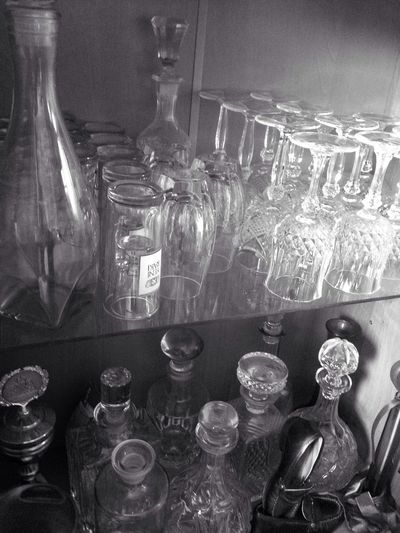 Oldschool Blackandwhite Wisk Bottle