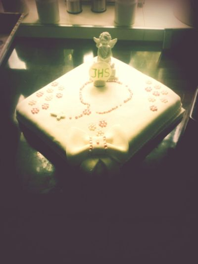 Cake♥ Torte Kommunion Weiss Rosa Angel Engel Yummy ♡ Kuchen