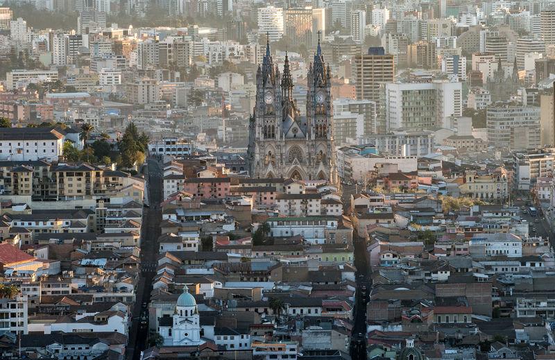 Full frame shot of quito city