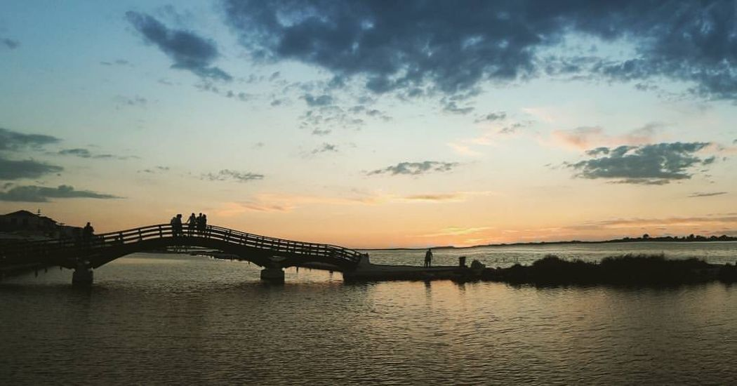 Love it! Bridge Lefkada See Bridge - Man Made Structure Connection Sunset Water Sky Built Structure An Eye For Travel Travel Destinations Nature