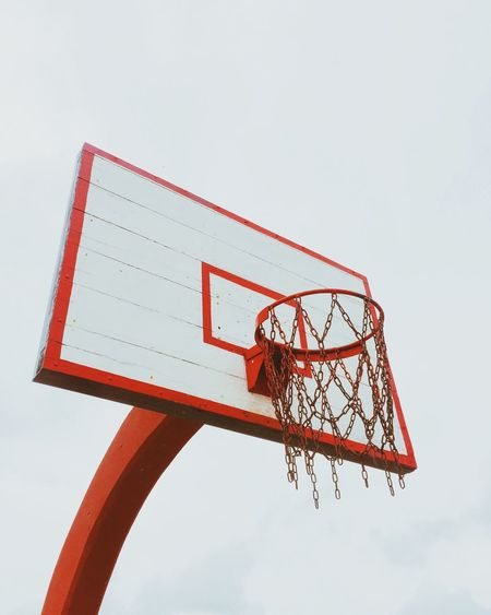 Basketball - Sport Basketball Hoop Clear Sky Day Low Angle View No People Outdoors Sky Sport