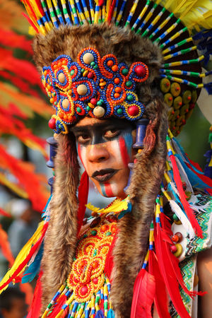 Multi Colored Cultures Headshot Traditional Clothing Adult Celebration Ornate Headdress Arts Culture And Entertainment Ceremony Young Adult Feather  Adults Only One Person Tradition Make-up Traditional Festival Traditional Dancing The Portraitist - 2017 EyeEm Awards In Jakarta, Indonesia