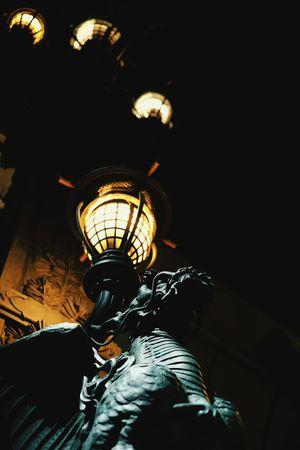 Nihonbashi Kirin First Eyeem Photo Night Statue Street Light Japan Bronze Kylin Cities At Night Ultimate Japan