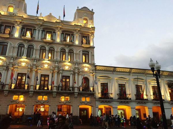 Ecuador Architecture Illuminated City Quito