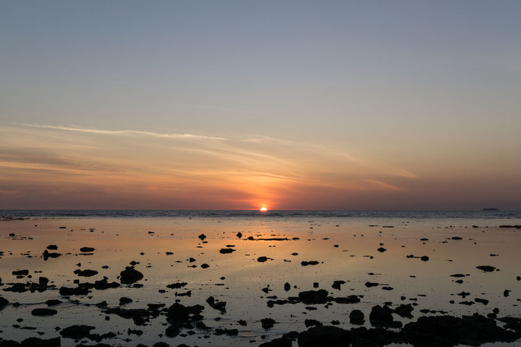 Thailand Tranquility Beach Beauty In Nature Horizon Over Water Idyllic Nature No People Outdoors Reflection Sea Sky Sunset Travel Destinations Water