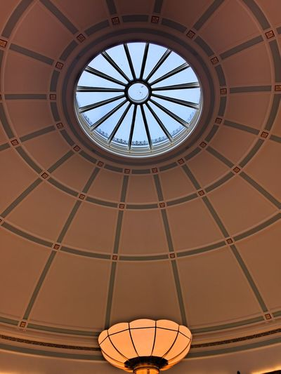 EyeEm Selects Low Angle View Indoors  Built Structure Ceiling Architecture Window No People Day Basketball - Sport Liverpool Library