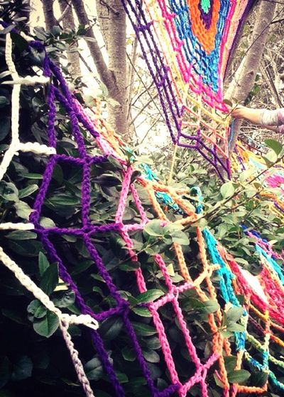 My Hobby Yarnbombing Yarn Bombing Crochet Spiderweb