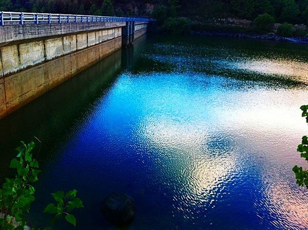 Water Blue Agua Mirror Reflection Hightlight Water High Angle View Outdoors Day No People Bridge - Man Made Structure Architecture Nature Beauty In Nature