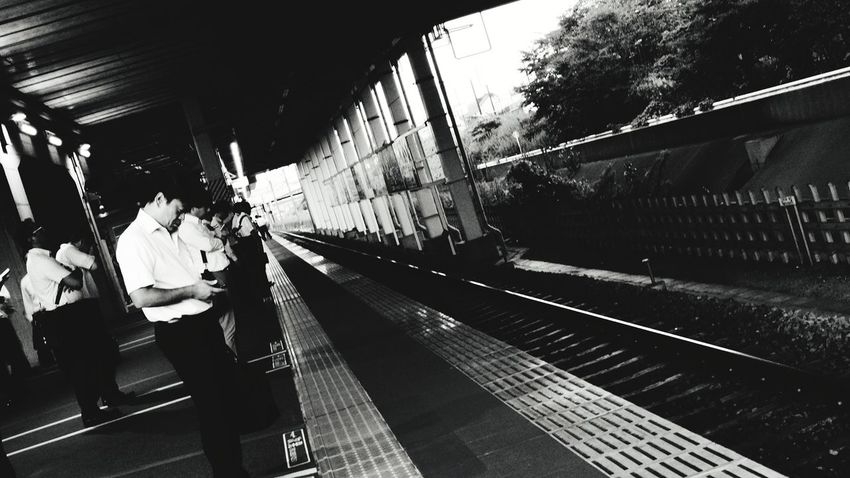 Warking Around Monochrome From My Point Of View Waiting For A Train Hot Day Subway Train City Railroad Station Platform Railroad Track Public Transportation Train - Vehicle Rail Transportation Railroad Station Journey Commuter Train Station Platform Railway Train Station Train Passenger