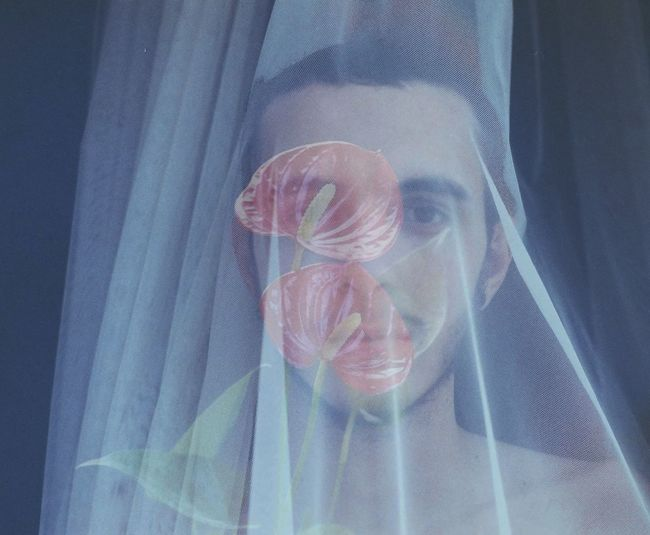 EyeEmNewHere Portrait Popular Photos Male Boy Queer Photography Skin Flower Face Color Red Curtain Film Filmphotography Filmphoto Young Men Pale White Plant Soft Cyberspace Women Futuristic Human Face Technology Internet Headshot Pixelated Front View Science
