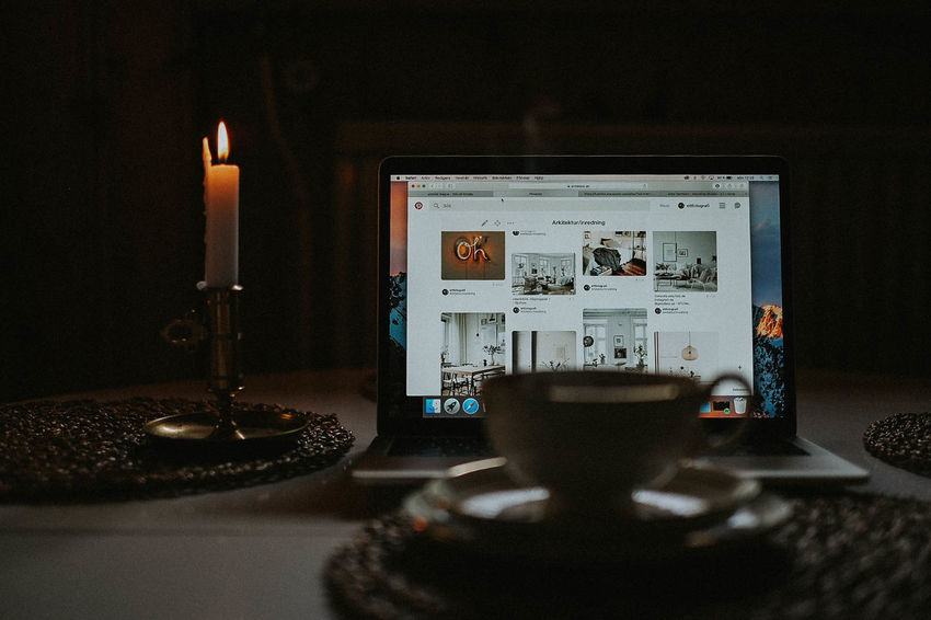 Morning Tea Candle Flame Indoors  Inspiration Table Technology
