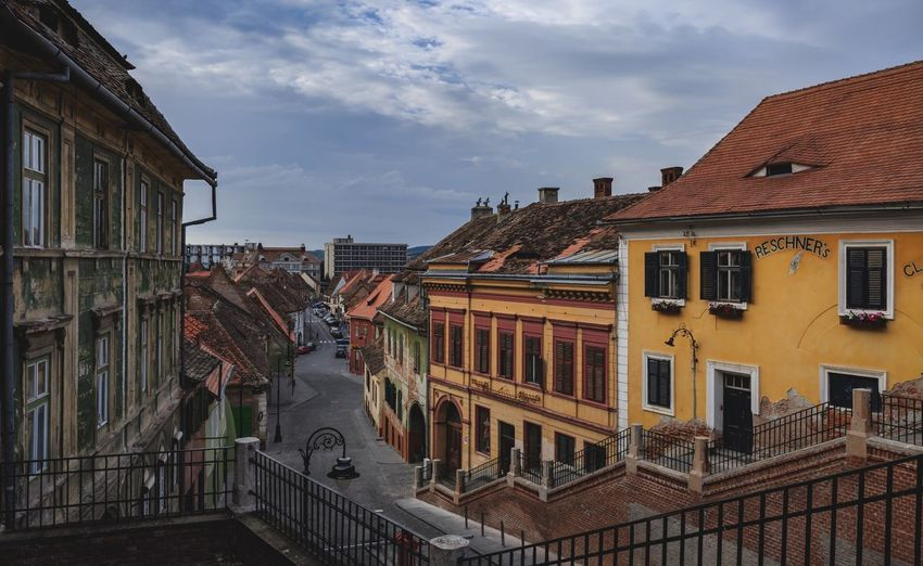 Old town Sibiu Romania Travel Destinations Romania Sibiu Old Town Architecture Built Structure Building Exterior Building Sky Cloud - Sky Residential District City No People Low Angle View Outdoors Travel