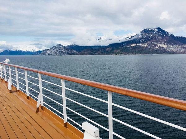 Glacier Bay Alaska Glacier National Park Ship Oasis Open Deck Cloud - Sky Sky Mountain Water Beauty In Nature Nature