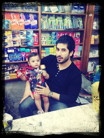 my friend with my son