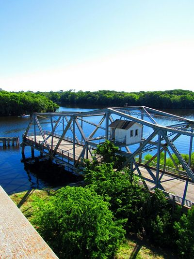 St. Johns River, Sanford, FL Old Bridge Riverscape Sky And Trees Outdoors High Vantage Vivid Photography