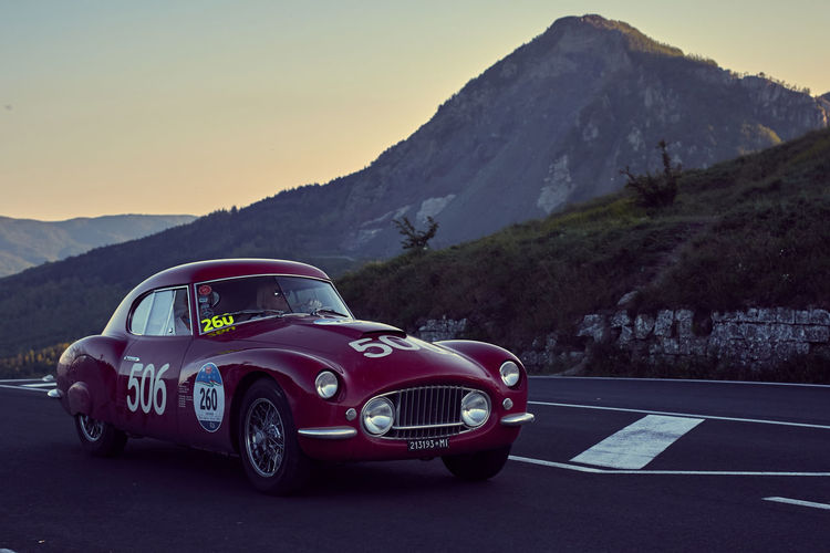 1953 Berlinetta Classic Car Country Road Fiat Mille Miglia 2016 Mille Miglia 2016 Mountain Transportation