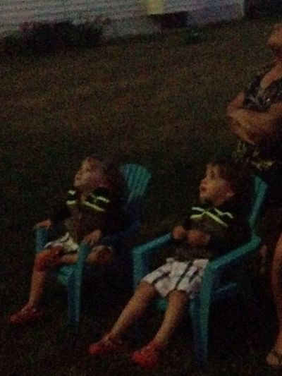 The Saile's Twins watching the fireworks last night SaileTwins EyeEm Best Shots TheVille Streamzoofamily