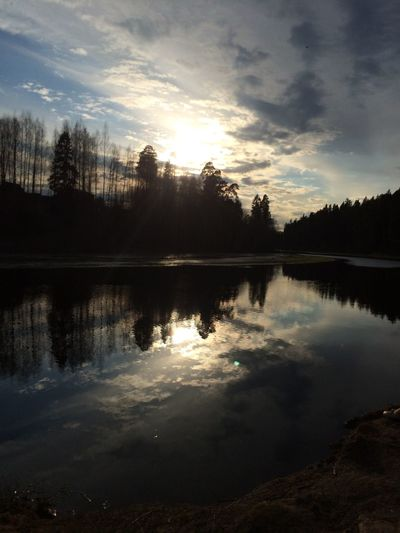 Reflection Water Sky Cloud - Sky Nature Lake Tranquil Scene