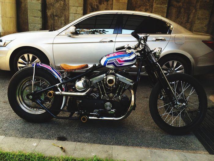 Welcome home again dude...!!! Custom Made Harley-Davidson Hello World Enjoying Life Harley_chopper