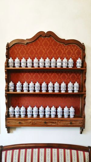 vintage pots Vintage Pharmacy Old-fashioned No People Indoors  Old Pots Vintage Pots Old Fashioned Furniture Furnitures Elegant Porcelain  Old China