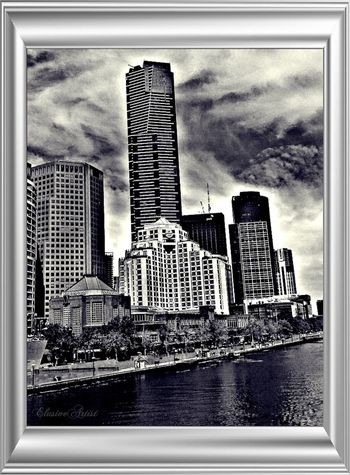 "SagaofmytearsThankyou for the invitation Wandering soul @soul1 Blackandwhite Bw_collection Landscape The view from a "" window "" of the City Southbank..."