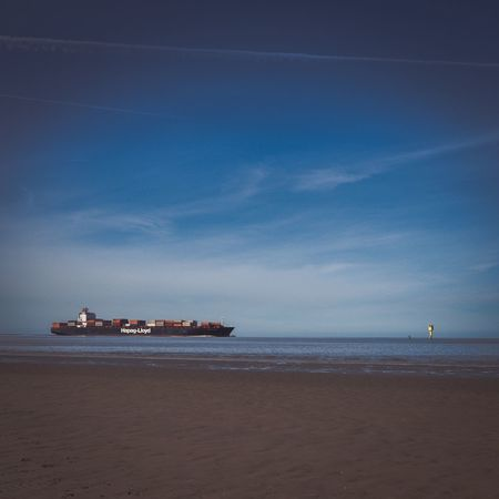 Wattenmeer Sea Sky Horizon Over Water Transportation Water Scenics Beach Northsea Nordsee Travel Landscape_photography Clear Sky Ship Otterndorf