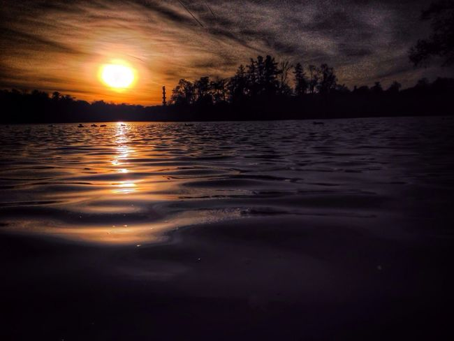 Sunset over waters Sunset Nature Skrill IT Far From Home Landscape