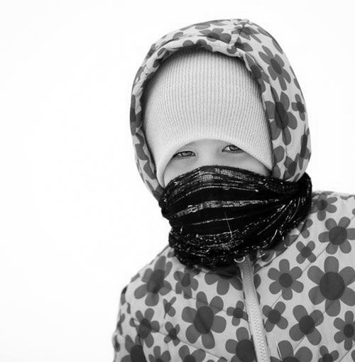 Cap Child Close-up Cold Girl Looking At Camera One Person Outdoors Warm Clothing White Background