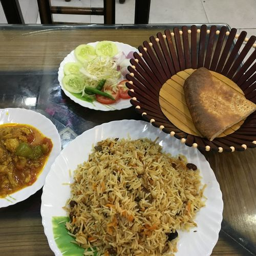 A meal awaits...time to dig in Afghan Bread Afghan Meal Cuisine Different Cultures Food Full Meal Healthy Eating Lunch Plate Pulao Time To Dig I