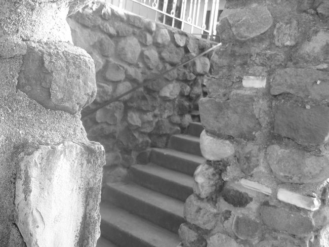 back stairs leading to library Blackandwhite Concert Day Eye4photography  EyeEm Gallery Laber Man Made Structure No People Old Stairs Rock Walk Way