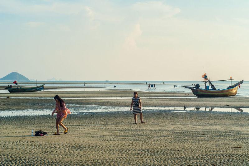 Beach Boat Naton Reflux Samui Samui_thailand Sunset Thailand
