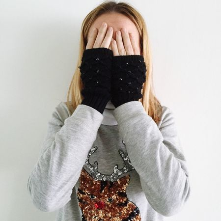 Girl Portrait Hands Face Covering Covered Gloves IPhoneography T-shirt Fingers Eyeemphoto Women Around The World