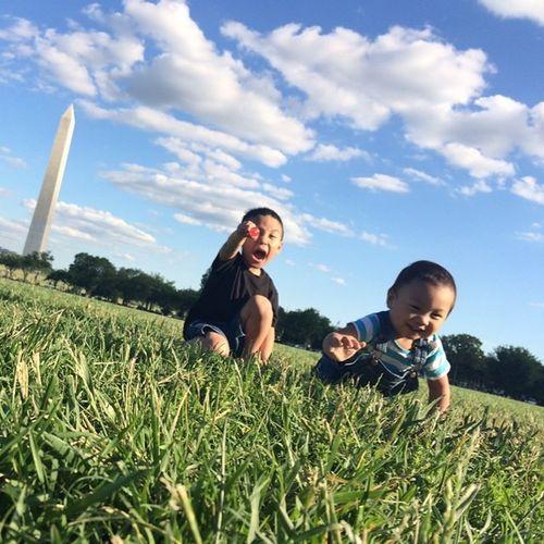 Two little Monsters . Nofilter . WashingtonDC Washingtonmemorial