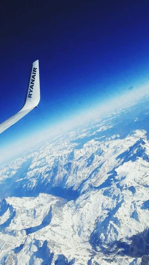 Airplane Aerial View Flying Transportation Aircraft Wing High Up No People Day Cockpit Sky Air Vehicle Outdoors Aerospace Industry Alps Switzerland Snow ❄ Mountains