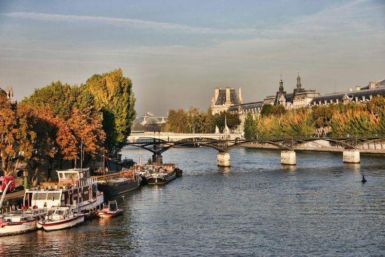 Bridge Across River In City