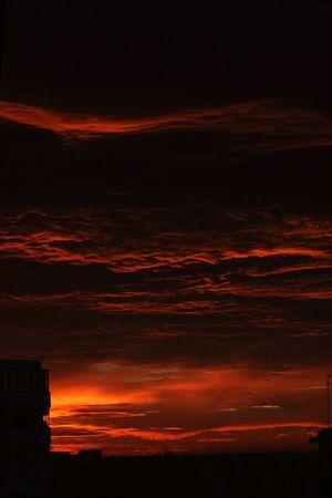 Good Morning Sunrise Rasarit Clouds Fire Red Sun Landscape Mysunrise Light Shadow