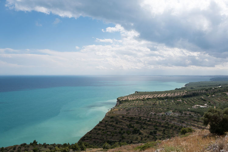 Beauty In Nature Cloud - Sky Day Horizon Over Water Italy Nature No People Olive Tree Outdoors Puglia Rock - Object Scenics Sea Sky The Great Outdoors - 2017 EyeEm Awards Tranquil Scene Tranquility Water