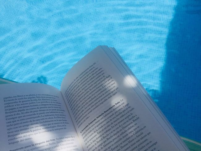 Blue Water Swimming Pool Pool No People Nature Close-up High Angle View Text Day Book Turquoise Colored Poolside Sunlight