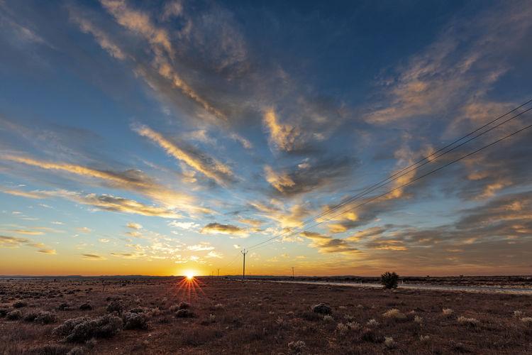 Beauty In Nature Cloud - Sky Dawn Horizon Land Non-urban Scene Scenics - Nature Sky Sun Sunrise Tranquil Scene Tranquility