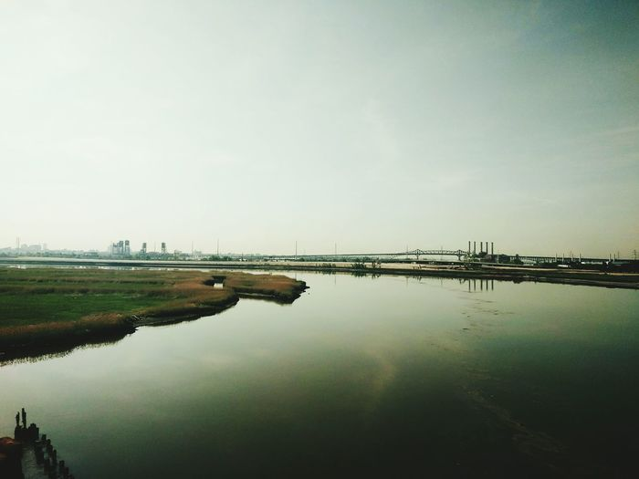Check This Outoutside the city New York New Jersey Nature Nature Photography Water Water And Sky Water Landscape Sky Train Train View