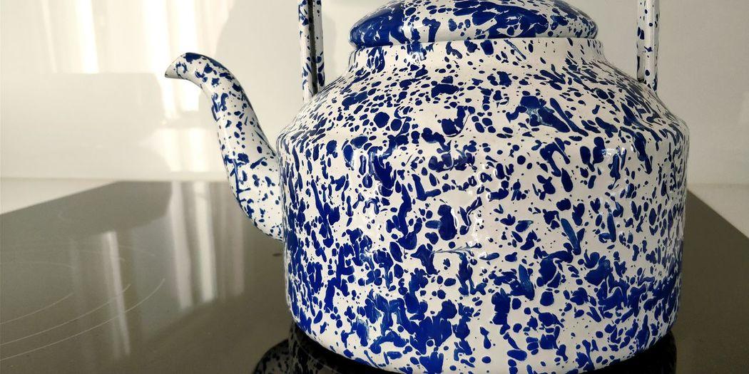 Teapot Blue Shadow Close-up