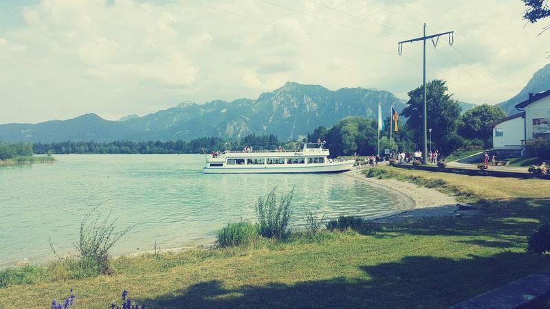 Afloat Maritime Hills Munich Sunny Day Water