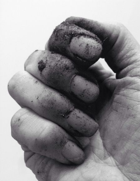 Don't you just love gardening? Not 🙈😂 Dirty Nails Gardening Hand Earth Black And White Simple Things
