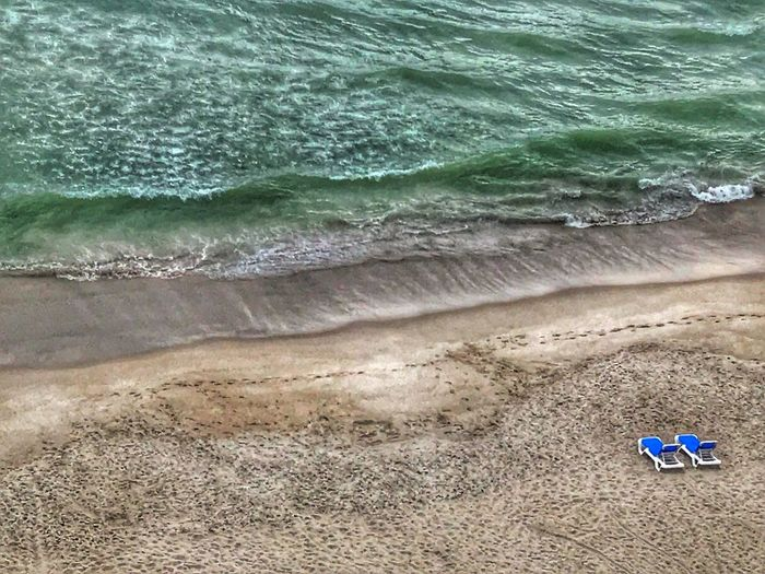 Heavily edited with snapseed Beach Sand Wave Sea Shore Water Nature High Angle View Day Outdoors No People radisson hotel satellite beach Florida usa The Great Outdoors - 2017 EyeEm Awards Live For The Story
