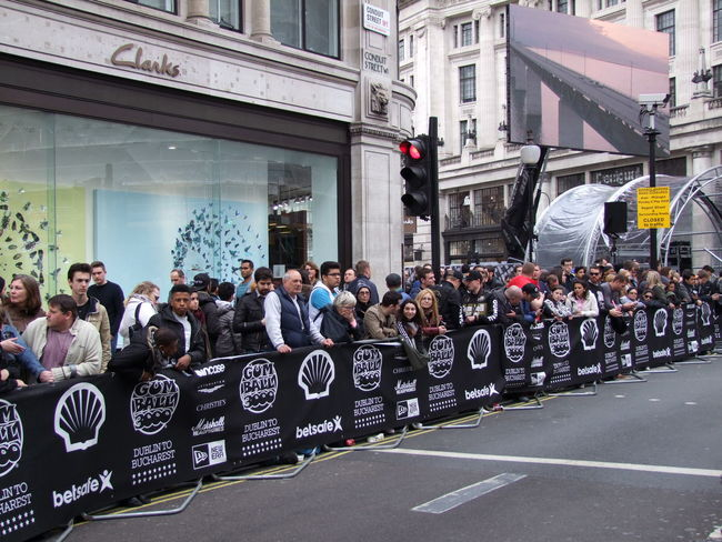 Part of The Crowd on the Gumball 3000 Finish Point Capital City Car Rally City City Street Composition Crowd Finish Line  Full Frame GB Gumball3000 Leisure Activity Lifestyles Logo Design Logos London Mixed Age Range Outdoor Photography Rally Screen Spectators Sports Travel Destinations Uk Waiting