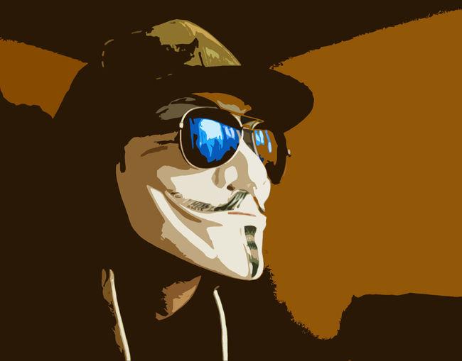 Anonymous Camo Glasses Snapback Whitehat