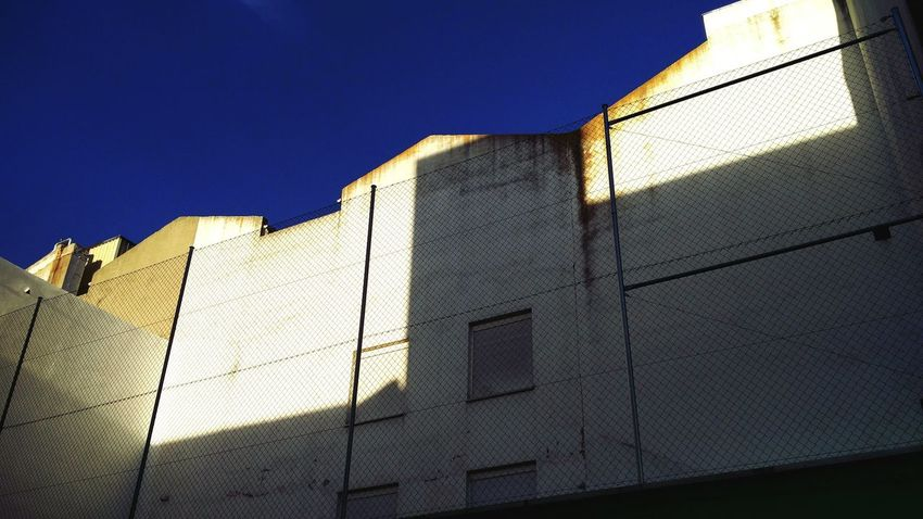 Back facade Architecture Outdoors Close-up Day Sky No People Madrid Texture And Surfaces The City Light Urban Creativity Street Lasuma Concrete Wall Man Made Object Wall Concrete
