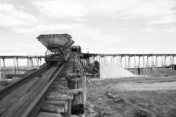 Bani Dominican Republic Railroad Track Salt Architecture Bridge - Man Made Structure Built Structure Cloud - Sky Day Nature No People Outdoors Playa Salinas Produccion Sal Salt Production Sky Structure Water Wood - Material